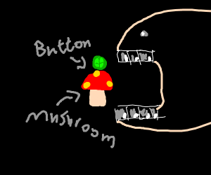 Eating a Mushroom with a Button