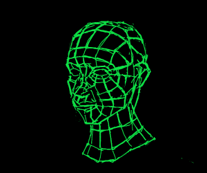 Young wireframe boy
