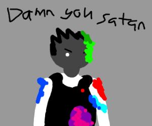Kevin shouldn't have given satan paintball