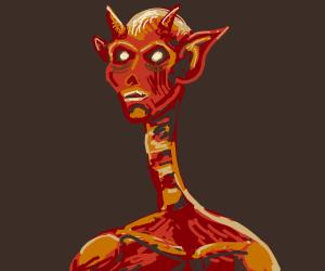 Devil with a snake neck