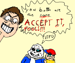 MatPat is scaring Sans and Ness