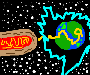 Hot dog spaceship destroys earth with mustard