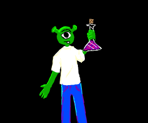 Shrek & Mike Wazowski's child holds potion