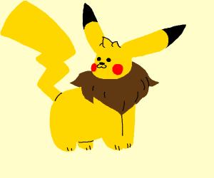 An Eevee-Pikachu hybrid