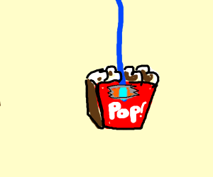 Box of Popcorn hanging on a string