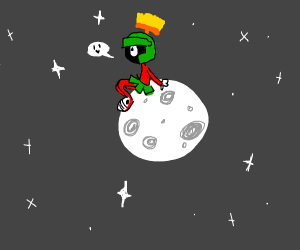 marvin the martian on the moon relaxin