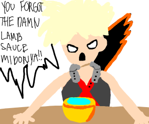 Gordon Ramsay but it's Bakugo