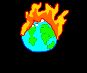 Planet on fire