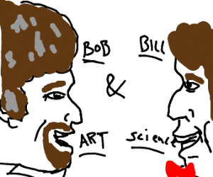 Bob Ross and Bill Nye are best friends