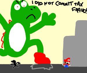 Yoshi destroys city