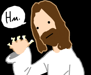 jesus with no fingers