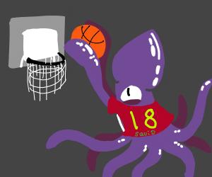 Squid in a Basketball Team