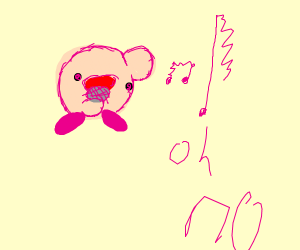 Kirby can't sing
