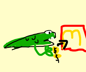 Crocodile pays for mcdonalds