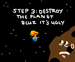 Step 2: draw a planet