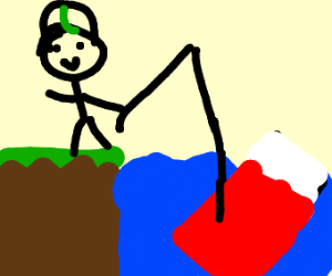Luigi fishing for beds