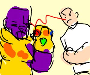 Mr. Clean fighting Thanos