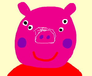 Peppa Pig Front View Drawception