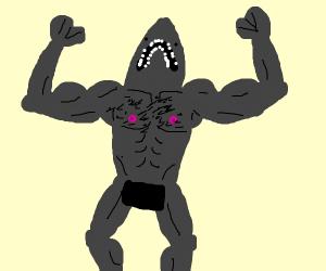 muscular shark!
