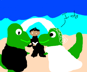 Dinos get married