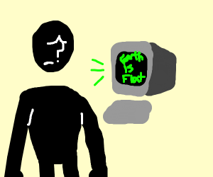 Guy Is Sad Because Computer Has No Sense