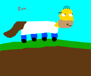 Homer as horse runngin