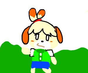 isabelle in a field