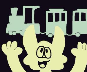 Cat praises train