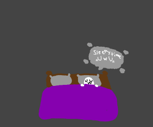 wholesome ghost ready for bed