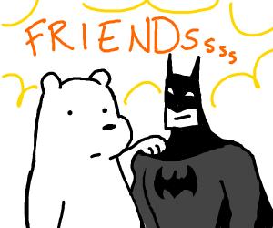 Polar Bear has Bat friend