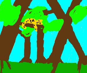 Cool cat jaguar chillin out in the jungle