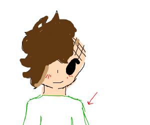 Green shirted man