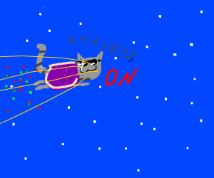 nyan cat at the speed of light