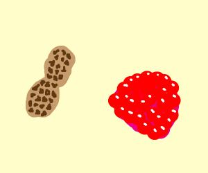 Raspberry after a peanut