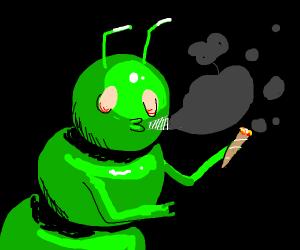 caterpillar smoking