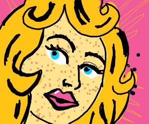 pop art blonde women