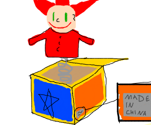 Made in China Jack in a box
