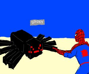 Spider-Man has pet spider