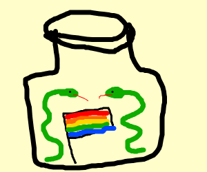 Gay snakes in a jar