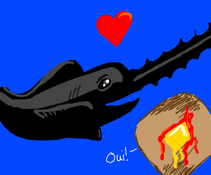 sawfish loves it's french toast