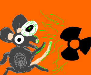 Mouse gets deformed by radiation