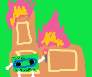 Norte Dame burned down by sick mixtape