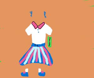 invisible school girl