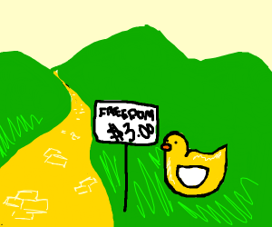 Duck sells freedom for 3 dollars