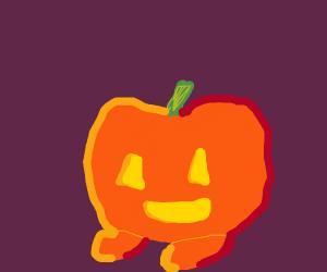 Jack-o-lantern with feet
