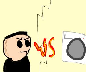 Guy VS Washing Machine