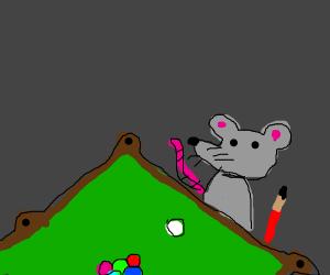 moose playing pool