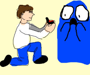 a man asking bloo from fosters home to marry