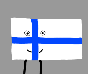 Finland's flag has become sentient!