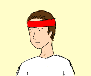 boy with a red hair band